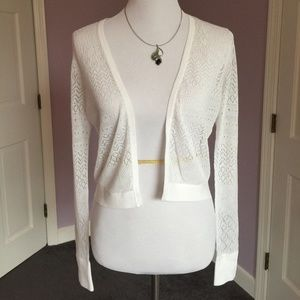 ❤️NWT Shrug Sweater, Lace, Ann Taylor, Small, LS
